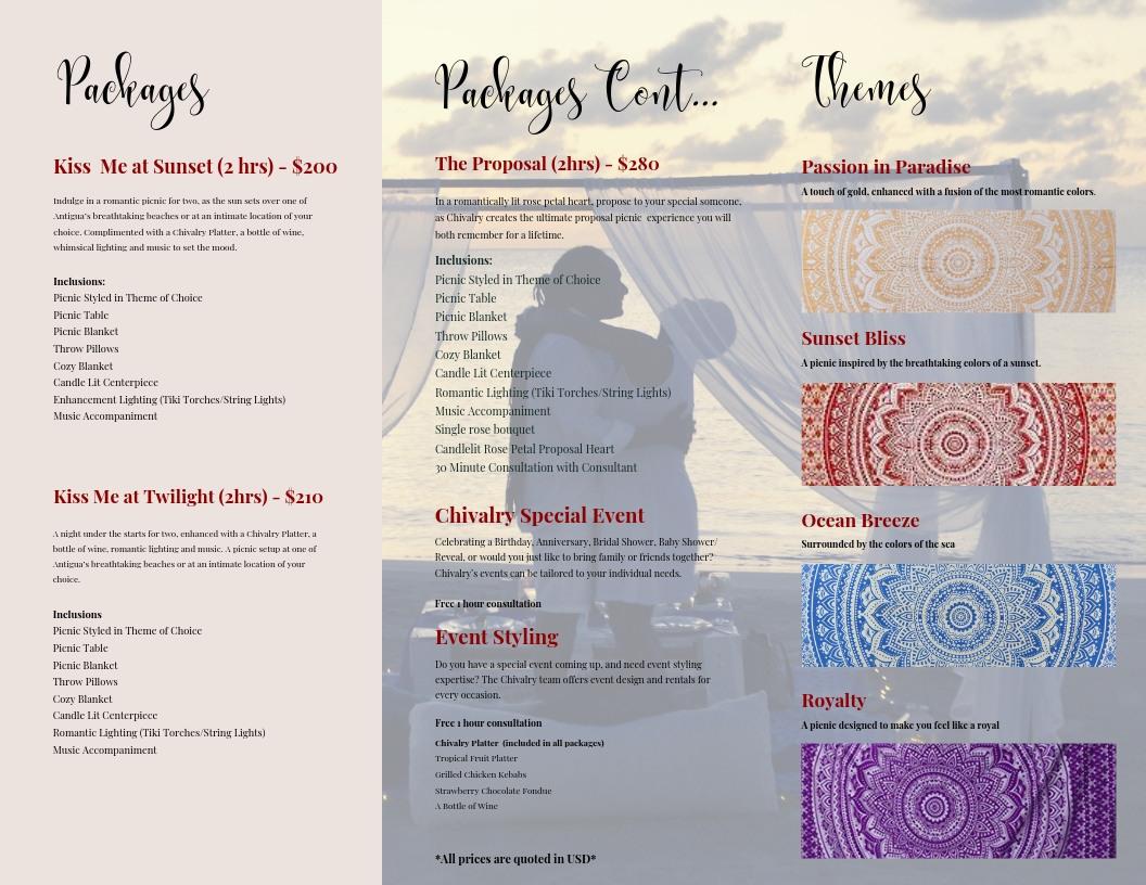 Brochure Design for Chivalry Events