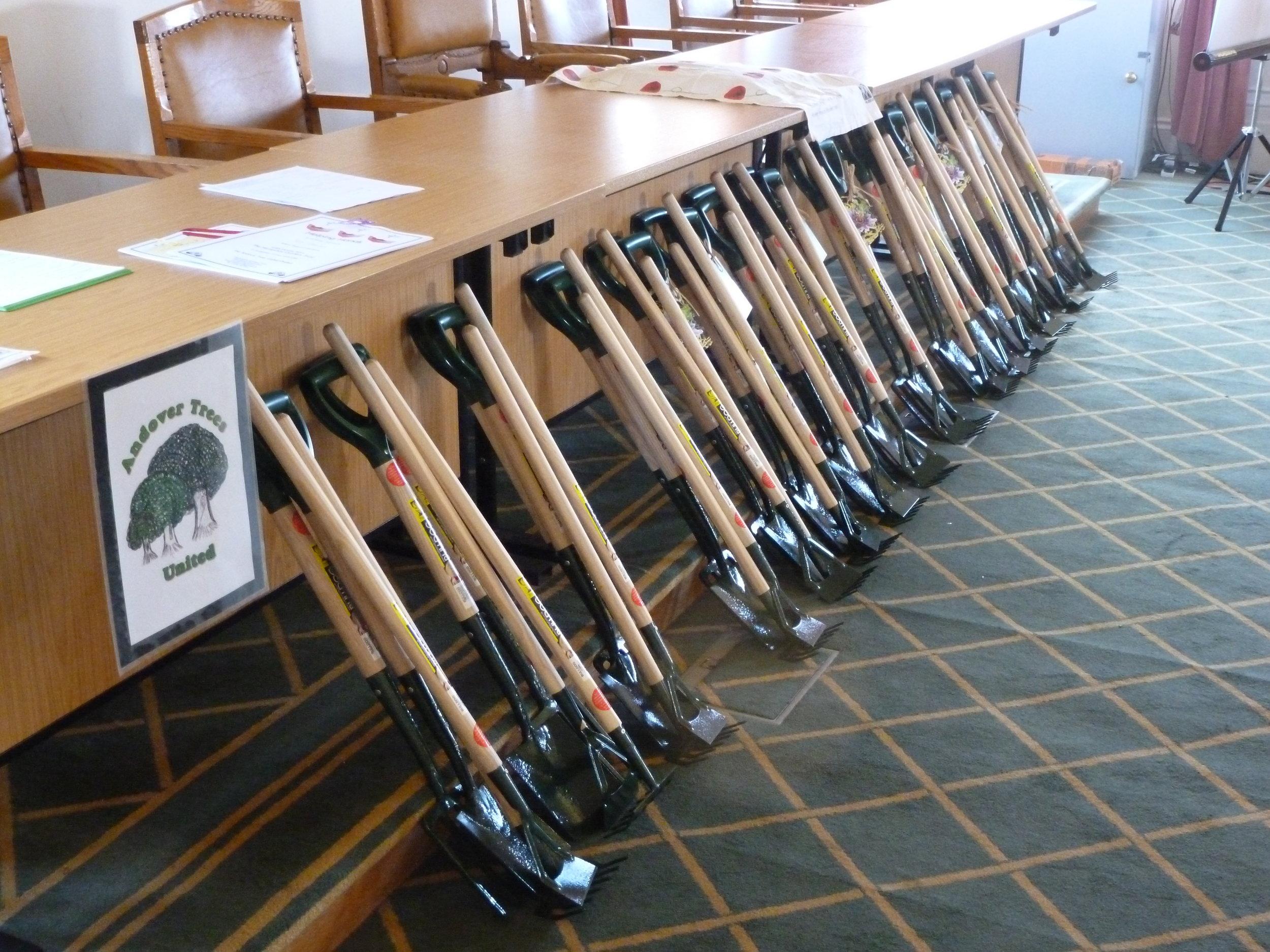 2012 Hampshire Gardens Trust presents tools.JPG