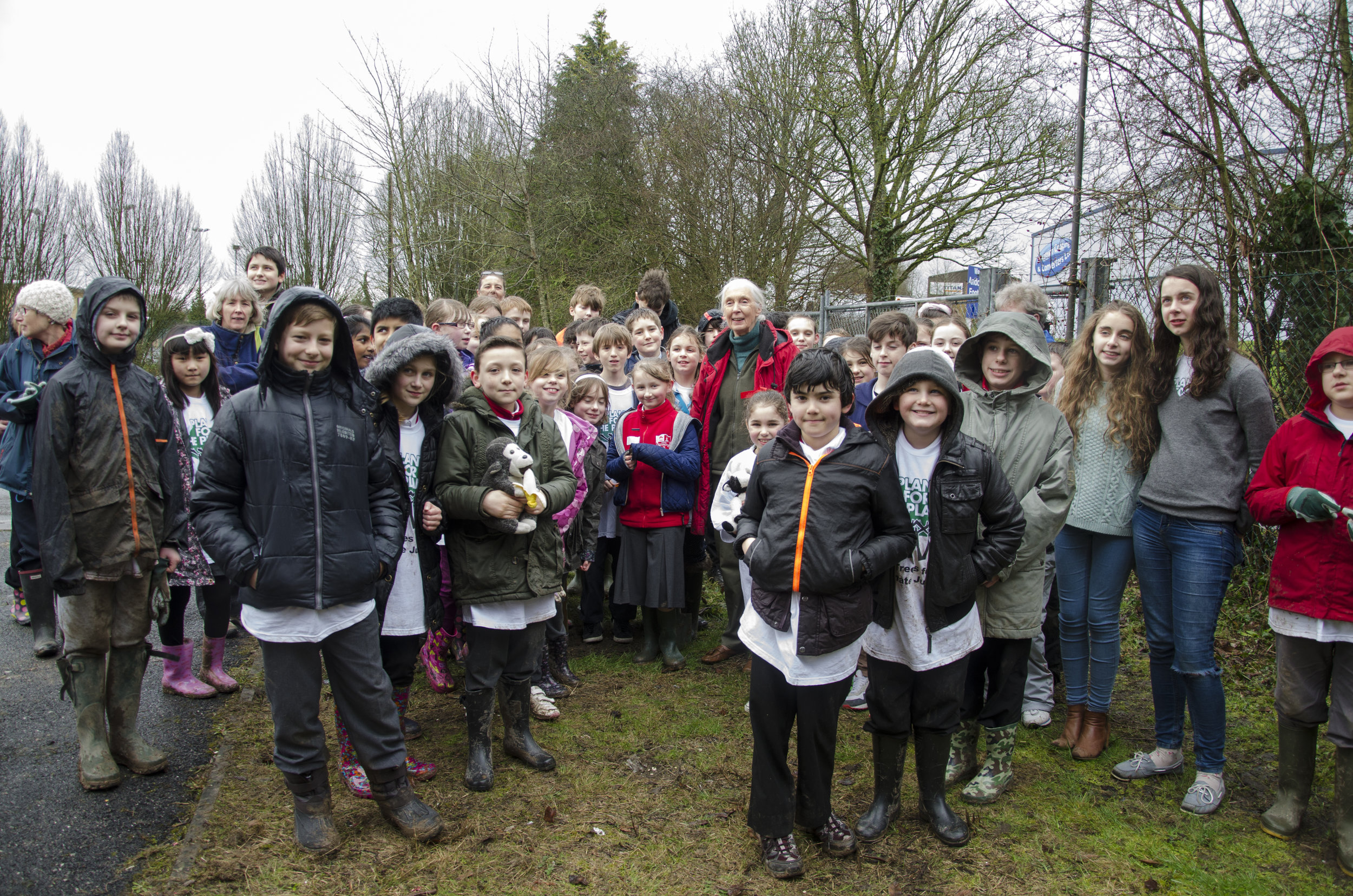 2014 February Dr Jane Goodall joins  Andover Plant for the Planet tree planting.jpg