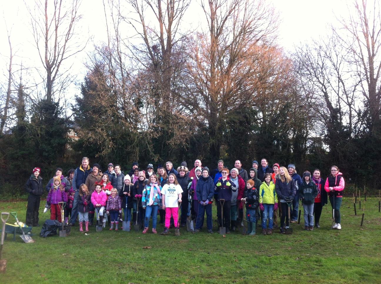 2014 Winter Children organise their own tree planting for Dr Goodalls 80th birthday.JPG