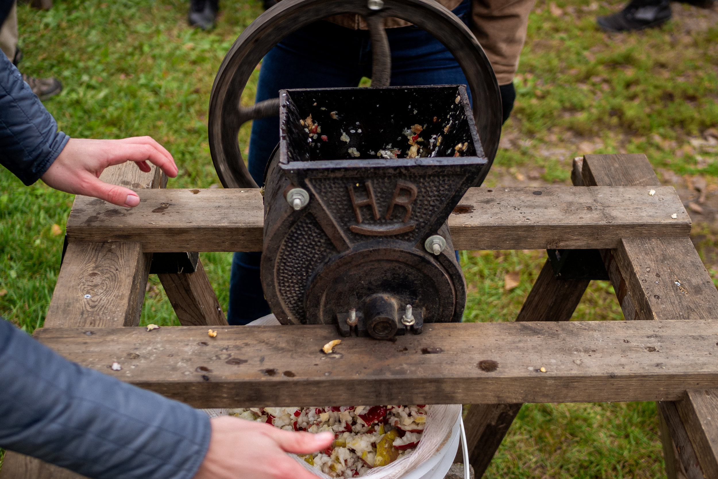 apple pressing at sheep sorrel farm -