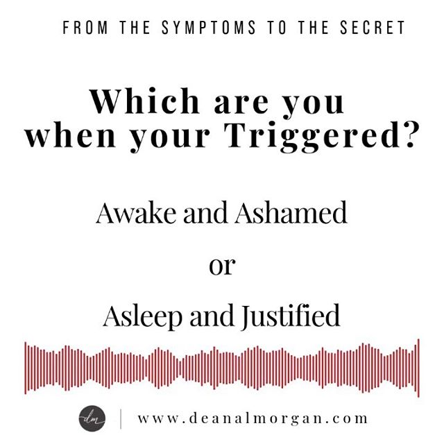 """If you are in a season asking questions about why you get so worked up & triggered over certain issues, then maybe this upcoming 4 week class is for you. • Go to my products page @ deanalmorgan.com and click on the class to find out more details.  Come join us. • Which group are you? And yes I spelt """"your"""" wrong, does it trigger you? 😏❤️"""