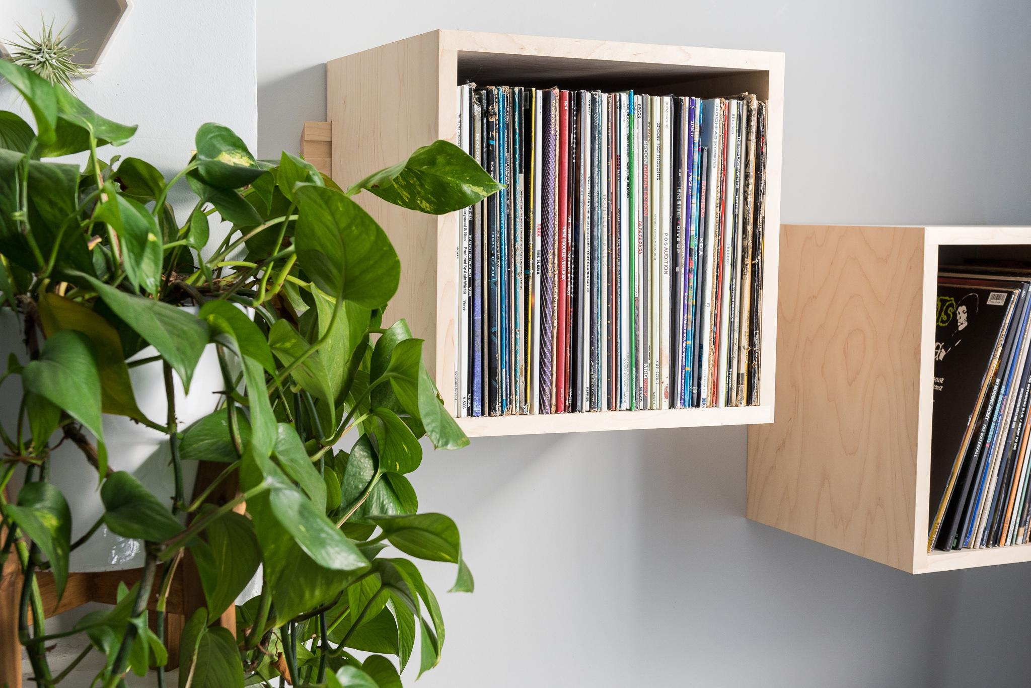 Deep Cut Cube Shelves in Hard Maple