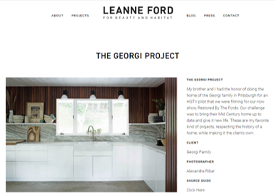 Leanne Ford - Pittsburgh Interior Designer well known for her projects and use of the Scandanavian aesthetic.