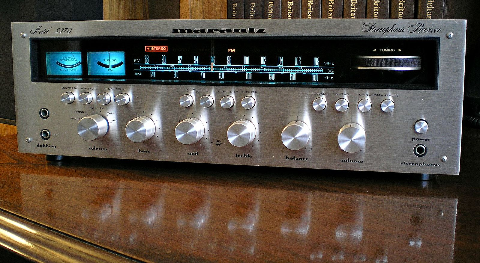 Vintage Marantz receiver, with machined aluminum and lots of knobs to fiddle with. Photo by  Ron Clausen .