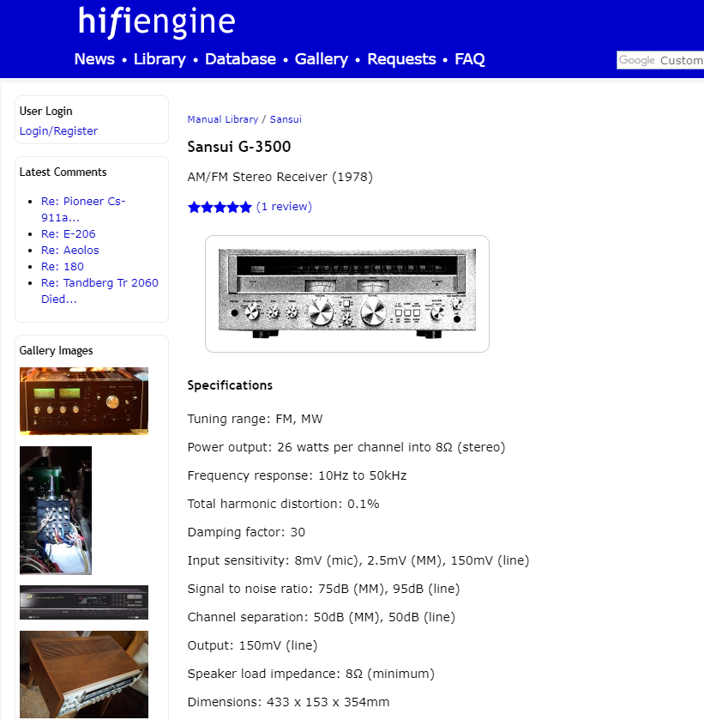 Check the specs and reviews of the equipment on hifiengine.com and / or several other resources.