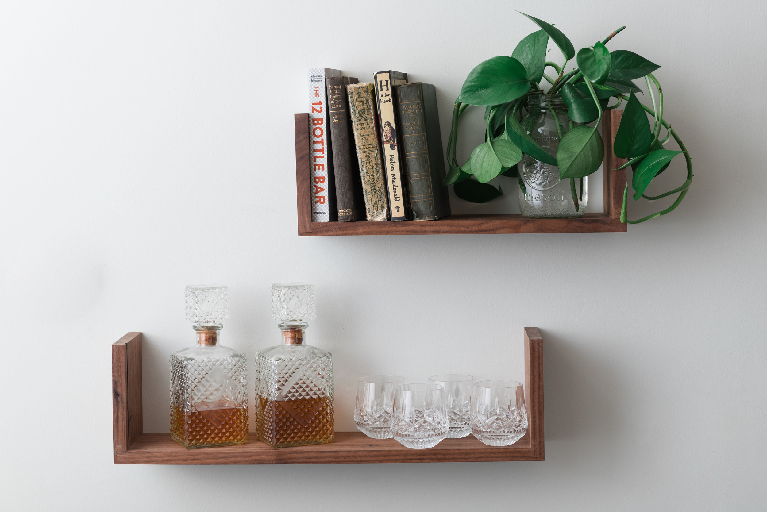 Deepcut ushelf floating shelf walnut5