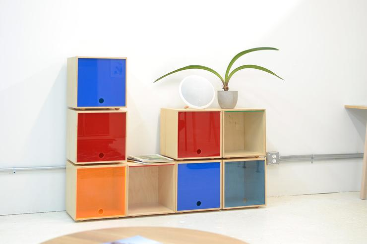 Stackable cubes are easy to use and scalable