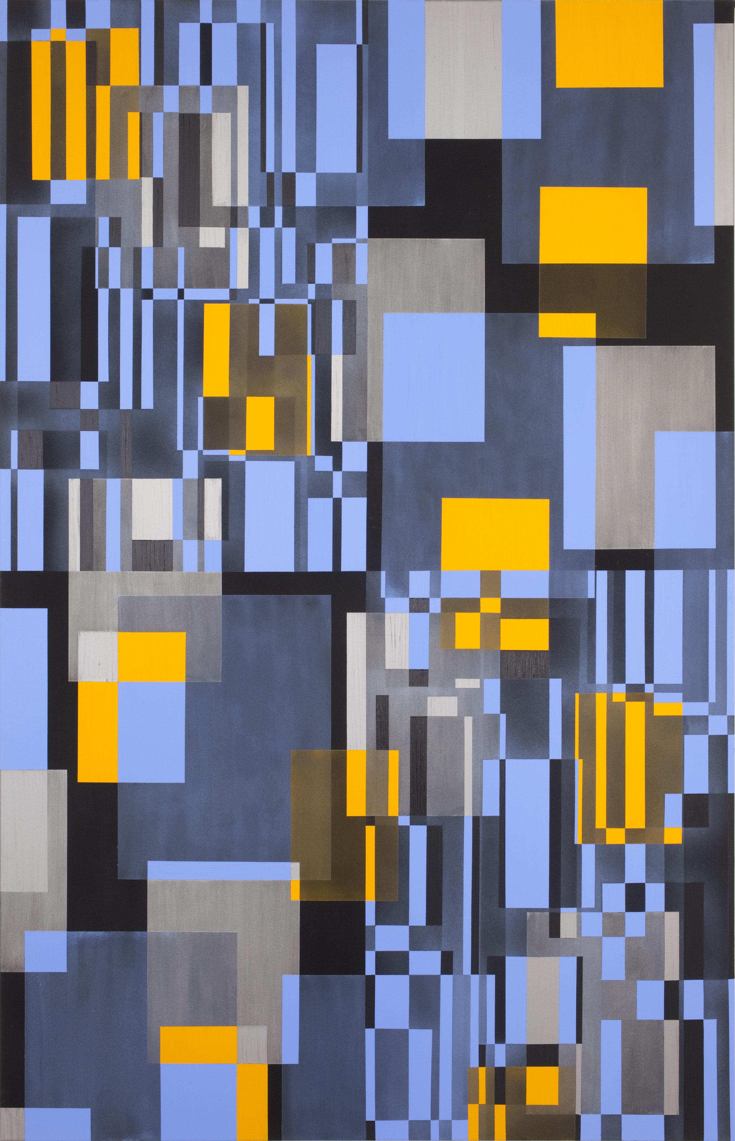- 6. Marianne Therese Grønnow. Light. Dusk. Darkness, 2012. Acrylic on canvas. 240 x 140 cm.