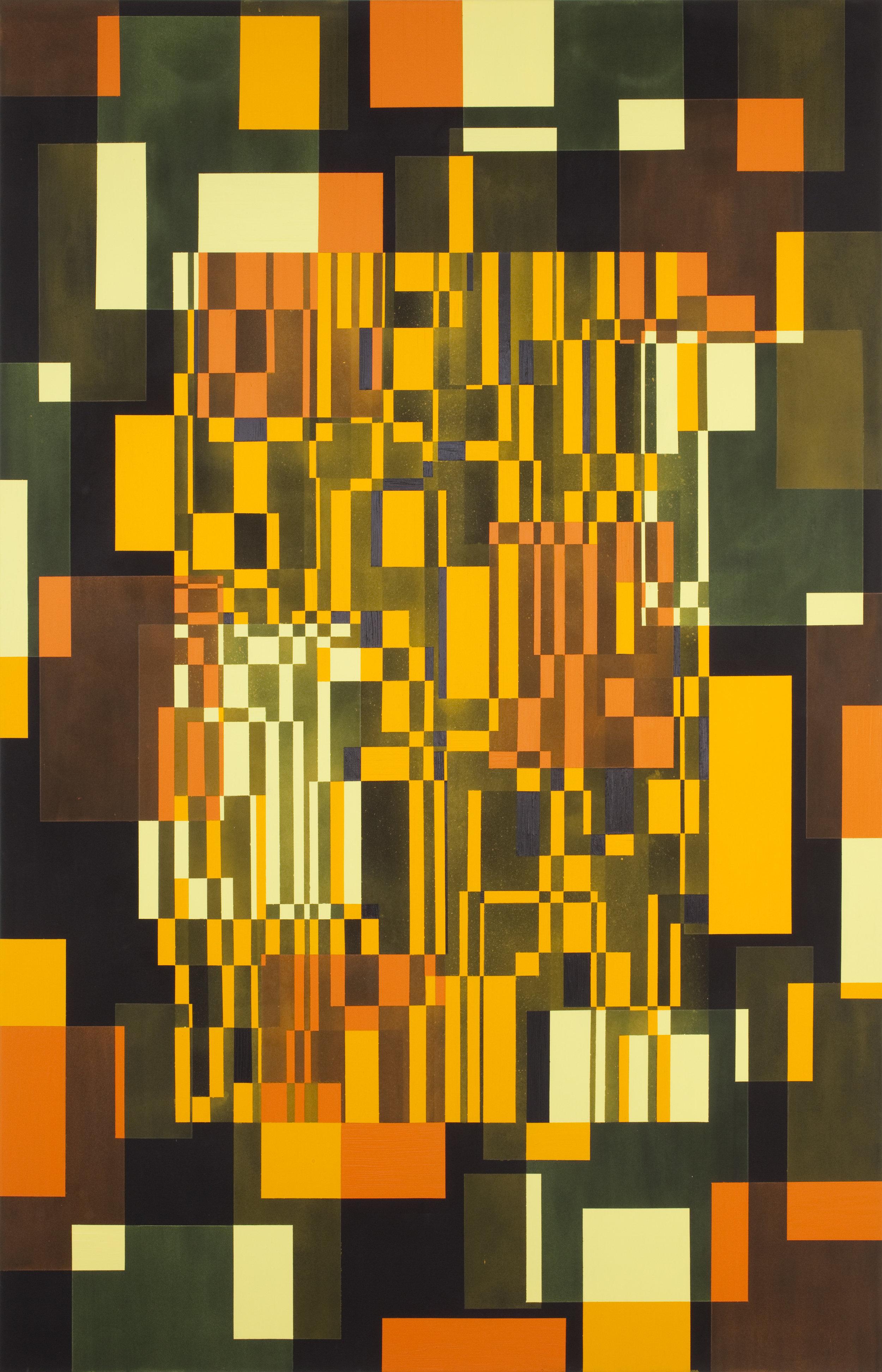 - 7. Marianne Therese Grønnow. Light. Dusk. Darkness, 2012. Acrylic on canvas. 240 x 140 cm.