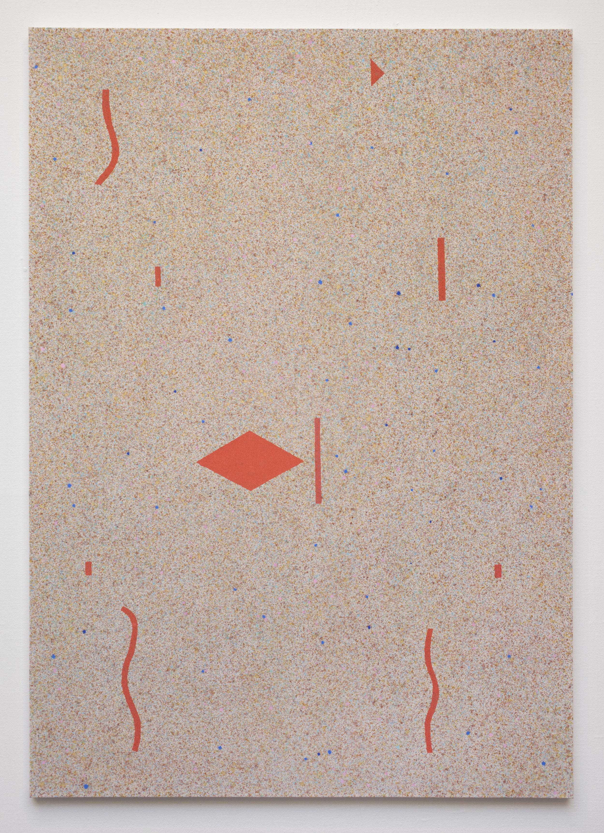 - 36. Bodil Nielsen. Untitled. 2012. Acrylic on canvas. 35 x 52 cm.