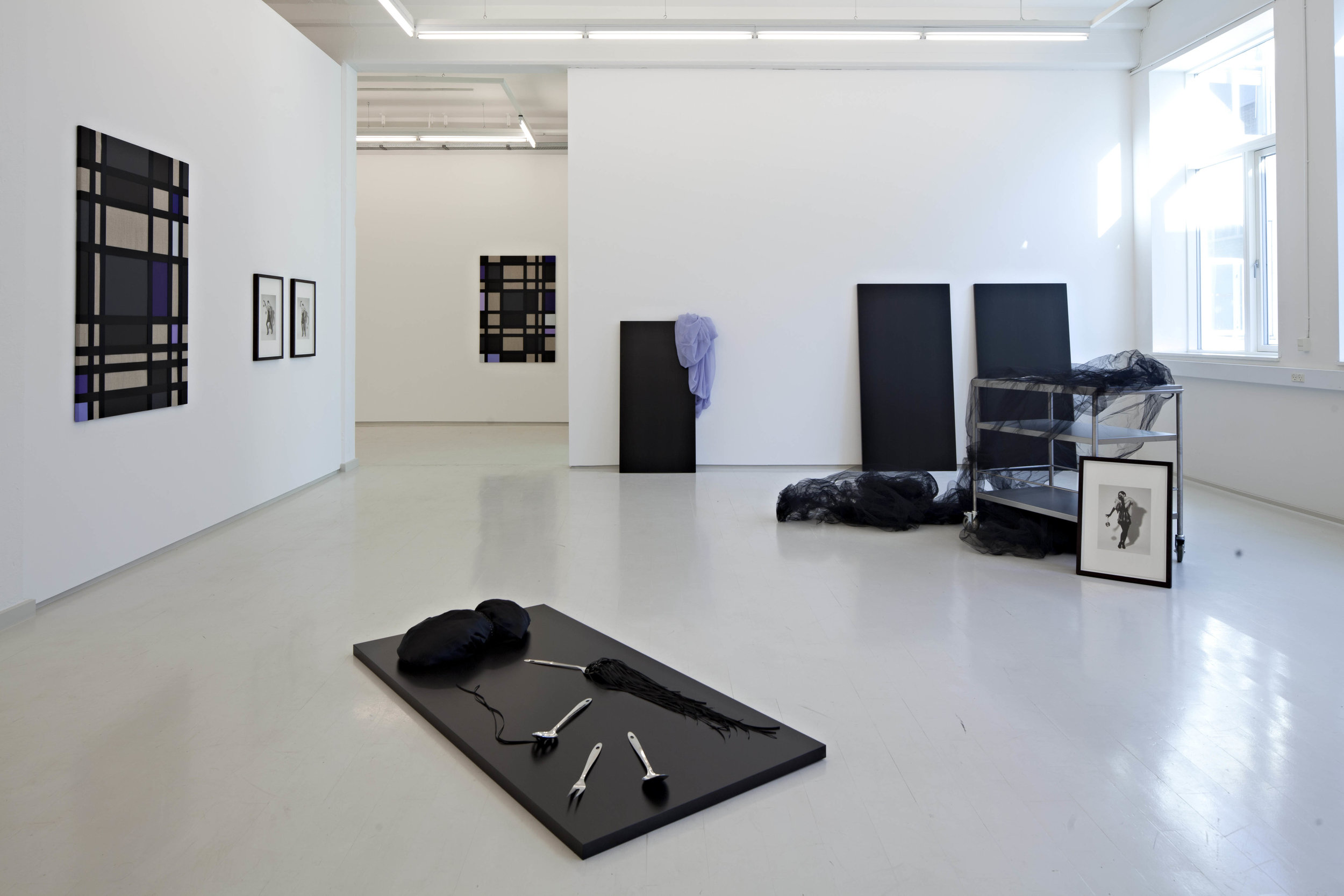 Dorte Jelstrup. And then it all vanished and the voidness came, 2012.  Mixed media. Variable dimensions. Installation view. Exhibition at Galleri Lars Olsen, Copenhagen, 2012.