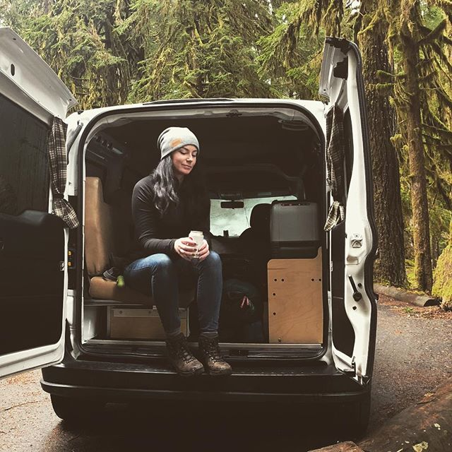 Camper van life means cracking open a cold one while everyone else is still setting up their digs. 🏕 . . . . . . #cascadecampers #campervan #campervanmagazine #vanlife #pnw #roadtrip #camping #sleepwherever #travel #vans #optoutside #weekend #pnwonderland #unitedstates #washington #adventure #weatherproof #rainier #olympicnationalpark