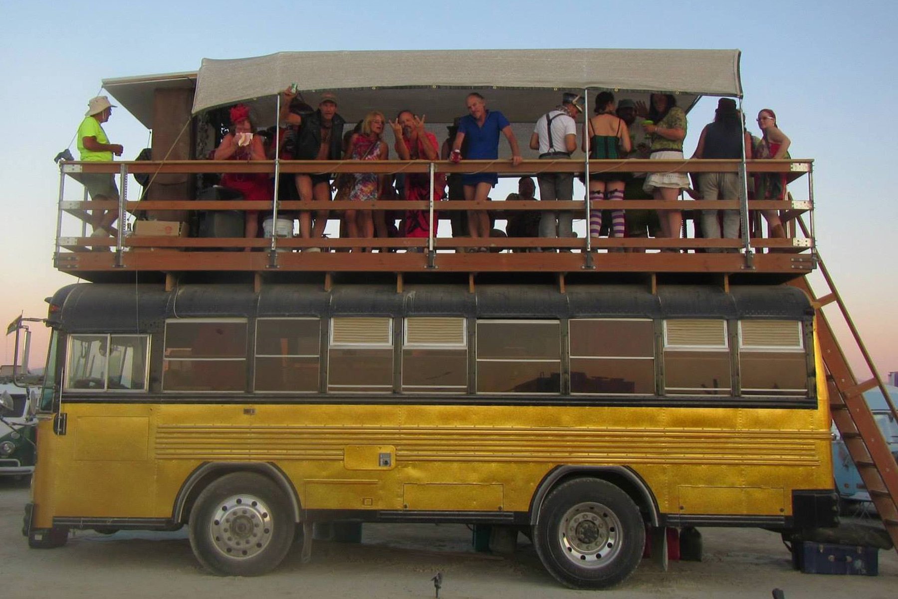 '93 Bluebird School Bus converted to a camper for Burning Man