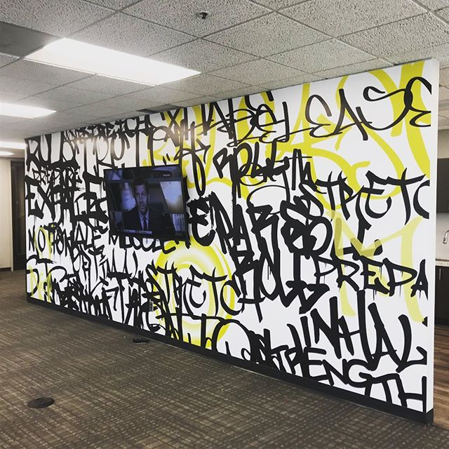 We installed some sick looking wall murals today at the Battery... get ya one!  #signs #murals #atlanta #hp365 #largeformatprinting