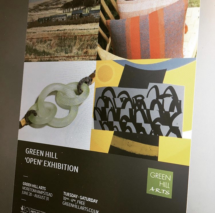 - Open exhibition at Green Hill Arts, Moretonhampstead28 June - 31 August 2019
