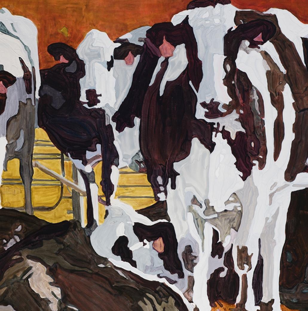 Konyn's Holsteins were captured beautifully in original works of art by  local artist Victoria Hanlon .