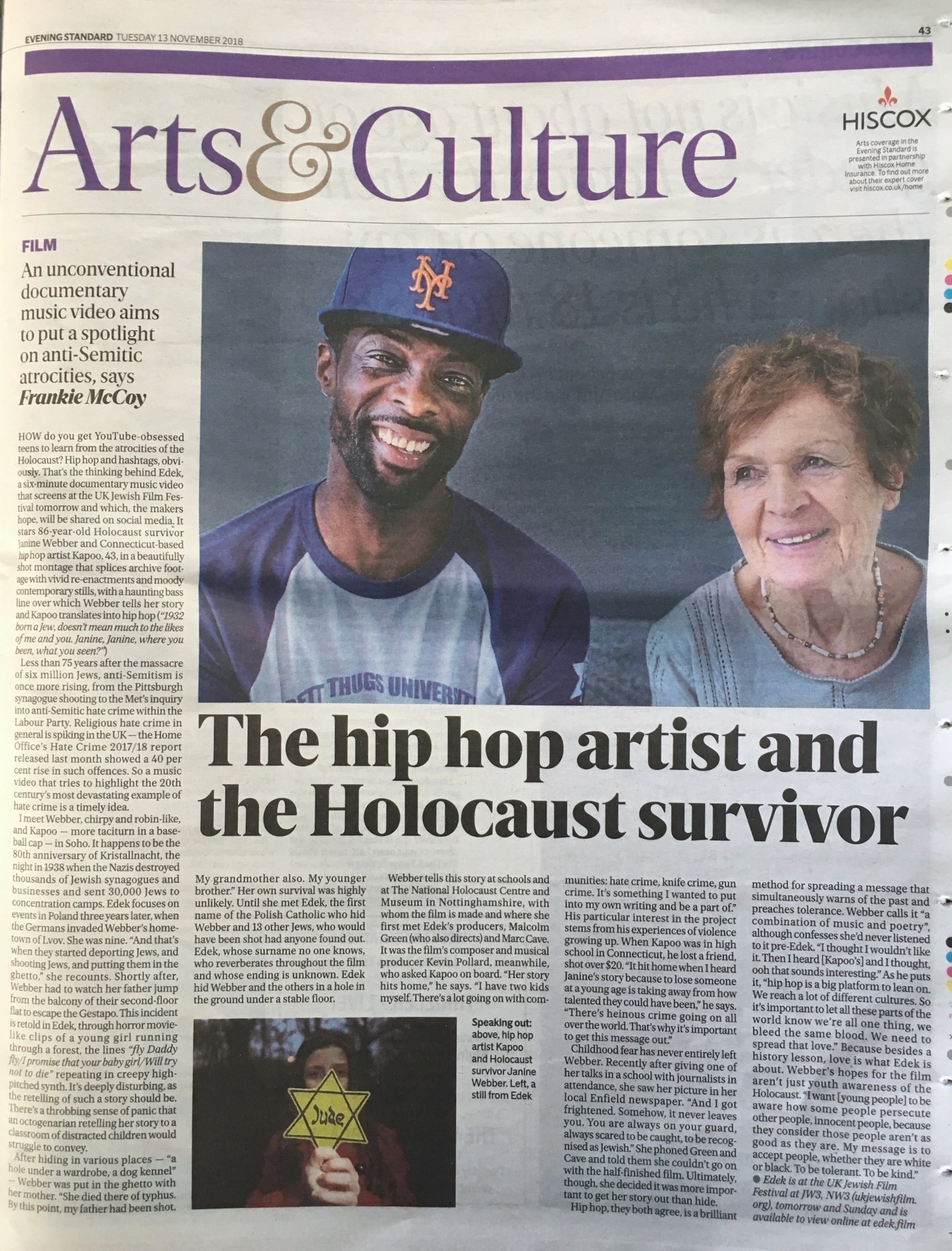 Evening Standard November 2018 -