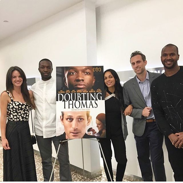 """Throwback to our launch screening and Q&A in Hollywood last month! What a wonderful night we'll never forget. 🙏 . Since then, the response to the film has been so incredible: - Hollywood Reporter said our film is """"finding new angles on unaknowledged prejeludice."""" - Van Jones (@vanjones68) tweeted about the film (for the second time) asking folks to keep the conversation going! - IndyRed.com gave us 4.5 STARS saying: """"The love, the fear, and anger all unfold perfectly and I can't think of any moment that I didn't fully believe what I was watching."""" - And so many wonderful passionate supporters have come into our world (thank you @rosariodawson, @kirstenvangsness, @vanlathan, etc). We appreciate you all! . 👉Watch the film on iTunes, Google, Amazon, etc (link in bio)! Give a rating, share the film with a friend, host a home movie night, request a screening, etc. Every little bit truly helps.👈 . We won't stop fighting the good fight to have difficult but necessary conversations about race in America. . Thanks again for your support. 🙏❤️ . doubtingthomasmovie.com #supportindiefilm #doubtingthomasmovie"""