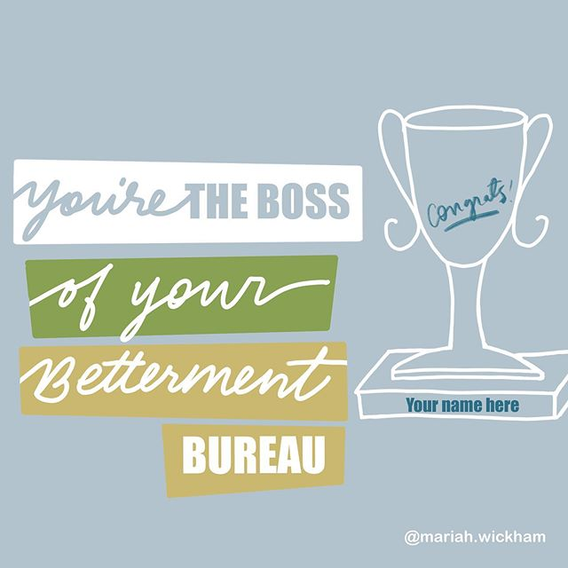 Here's your trophy. . Congrats! You are the boss. You have the power & you can create whatever result you wish. . Who you become is only limited by you giving this trophy to someone else. . You're the boss. Make whatever you want better. . #lifeupgraded #whoyoubecome #liveyourhappy #lifecoachthoughts