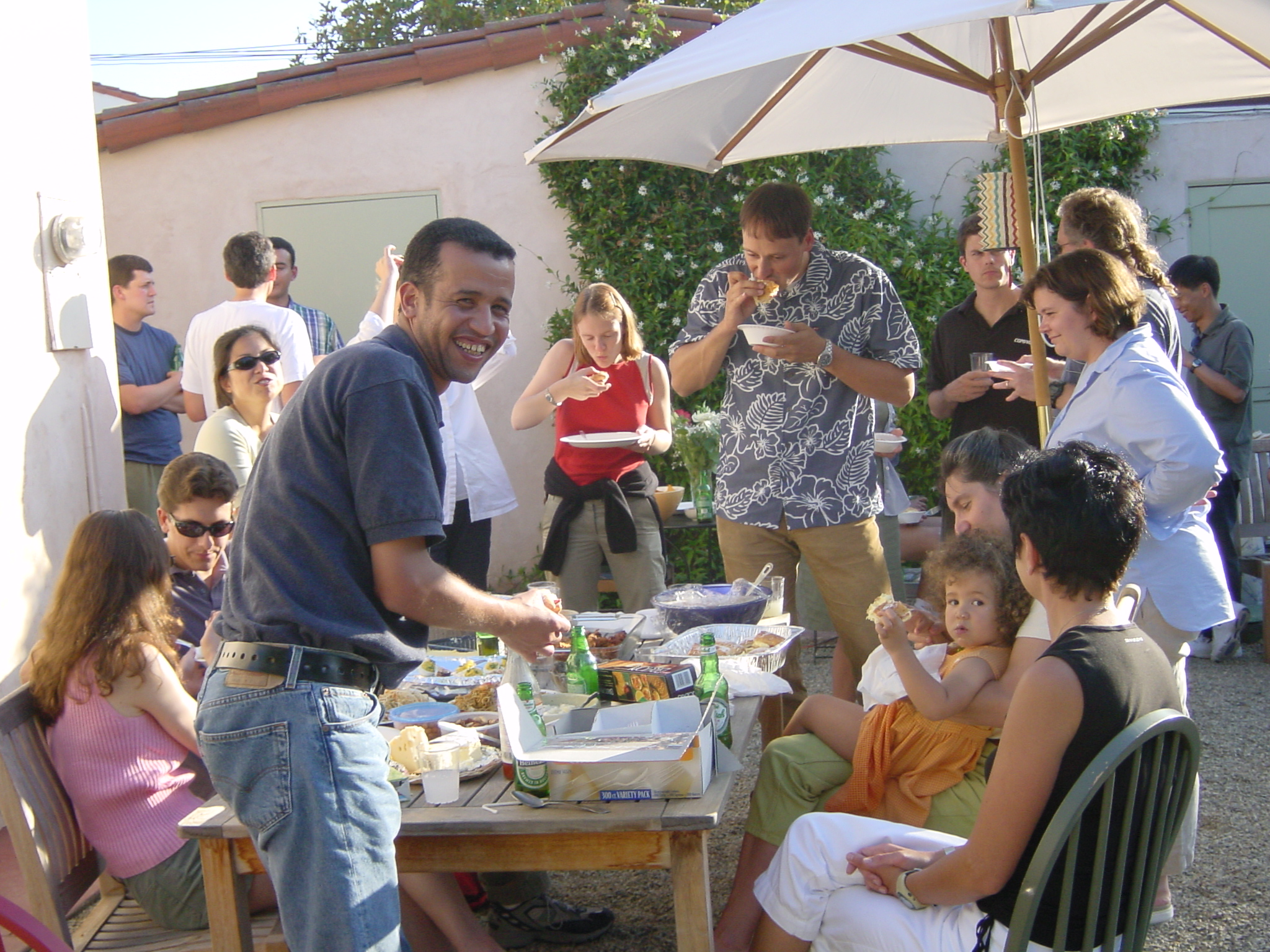 Lab party, 2002