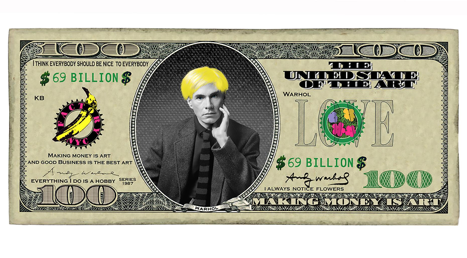 100 Dollar Andy  digital manipulation on photography