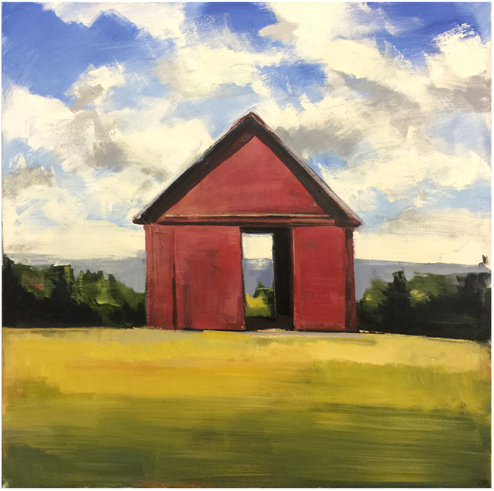 Red Barn  oil on canvas 48 x 48 inches