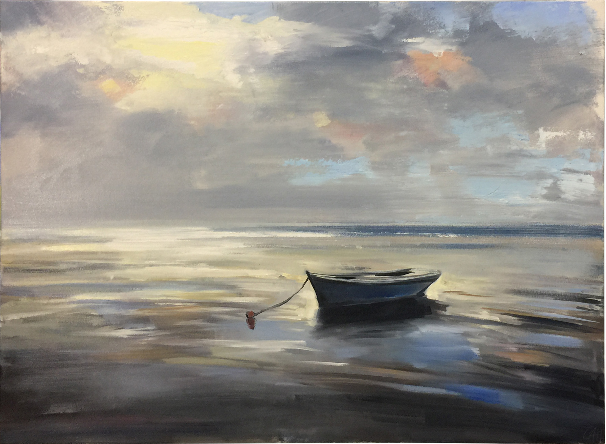 Tranquil Tide  oil on canvas 34 x 46 inches