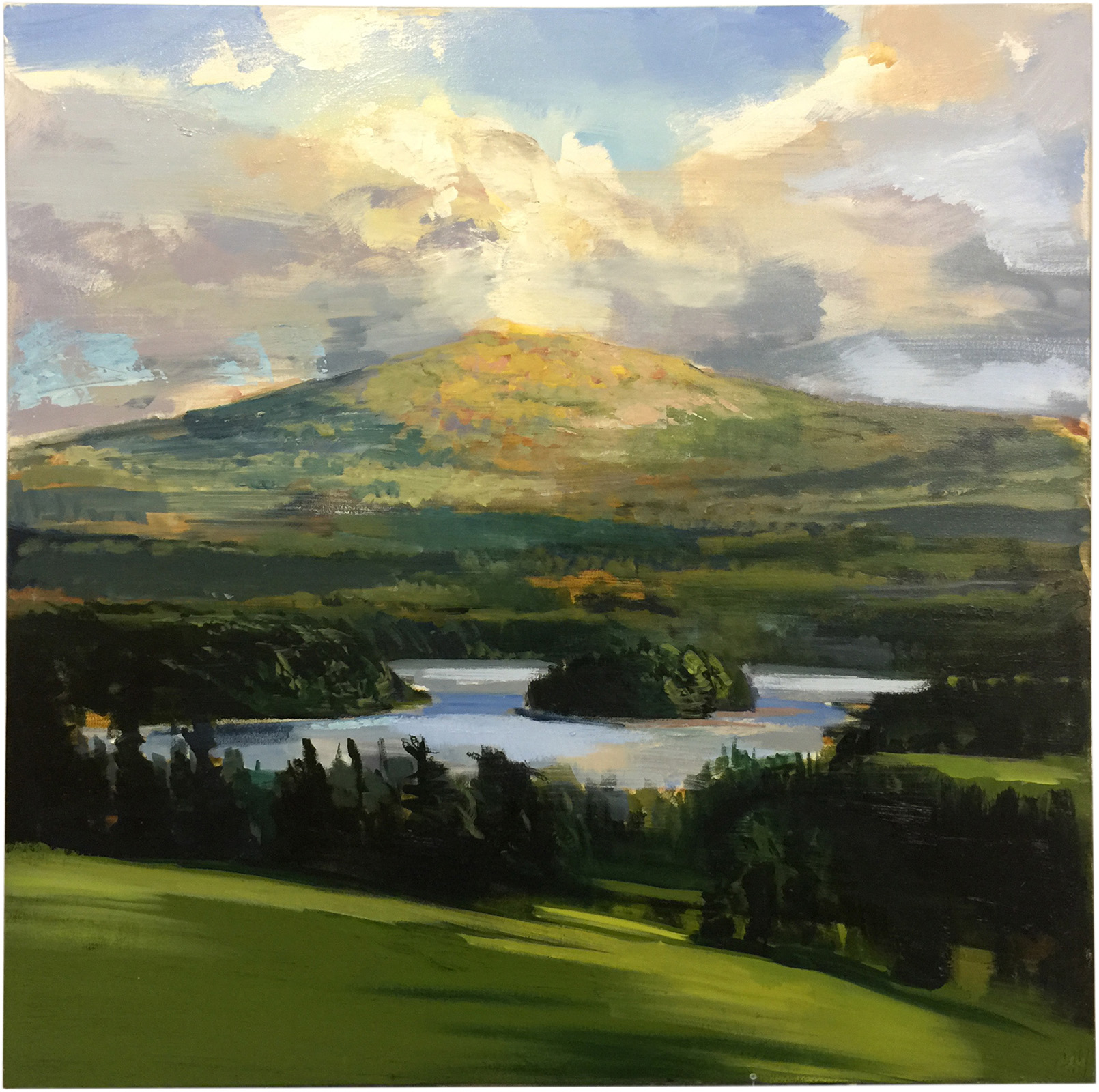 Mountain Lake  oil on canvas 48 x 48 inches