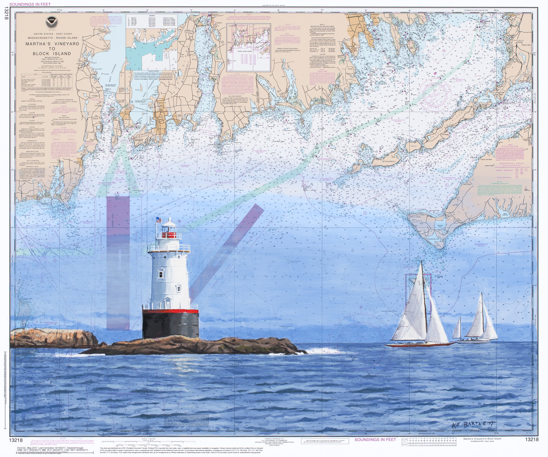 Kyle Bartlett -  Sakonnet Lighthouse   Acrylic, 21 x 24 inches