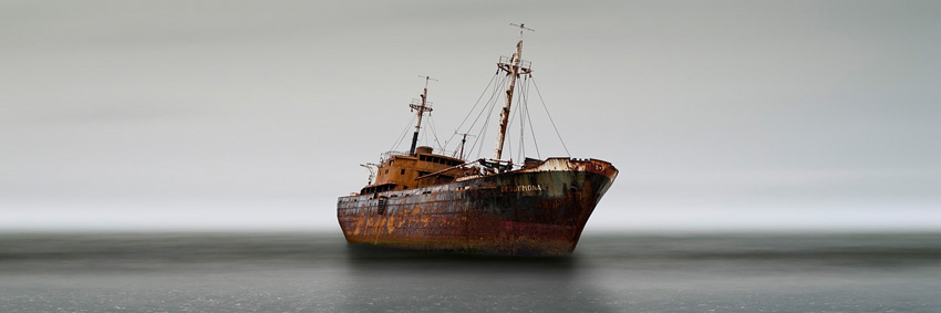 Grounded Ship, Cape San Pablo, Argentina, 2007