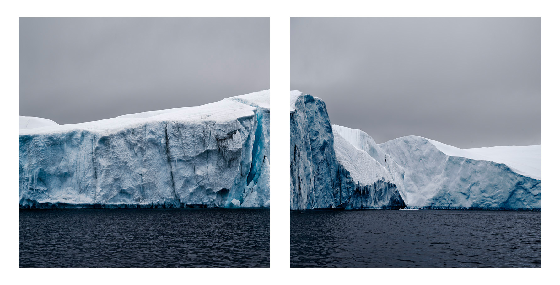 Melting Iceberg, Antarctica, 2007   (diptych)