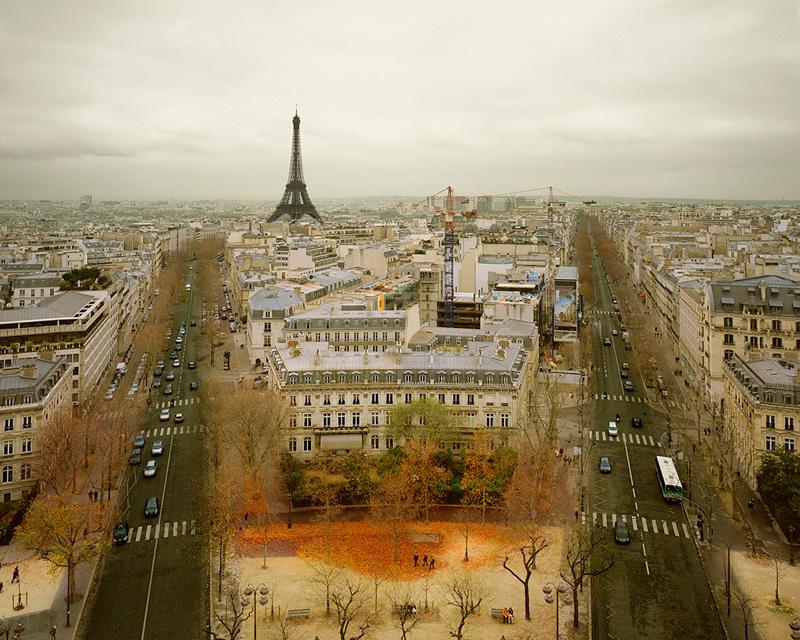 Paris from the Arc de Triumph, Paris, France, 2010