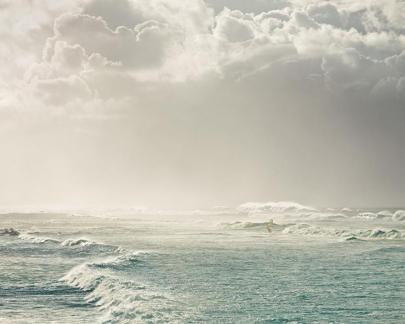 Lone windsurfer, Hookipa Beach, Hawaii, 2011