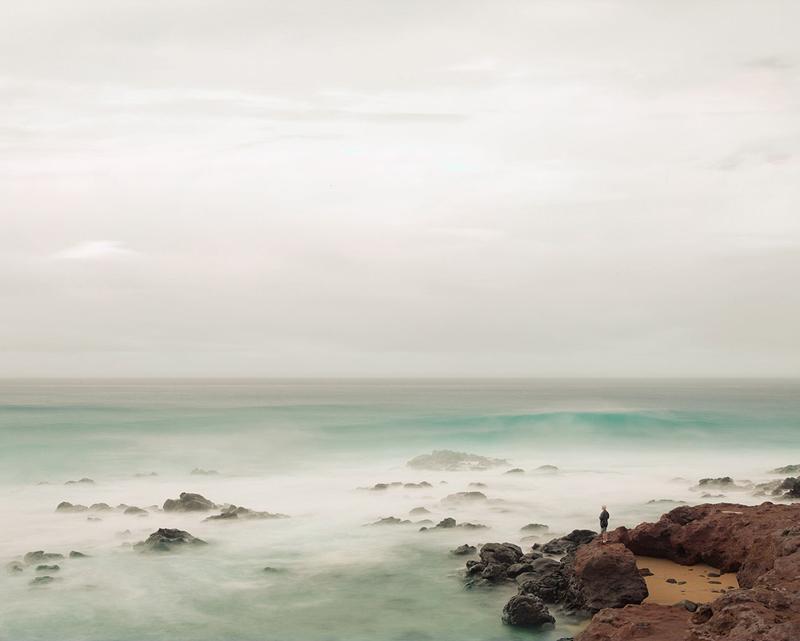 Man Watching Surf, Maui, Hawaii, 2012