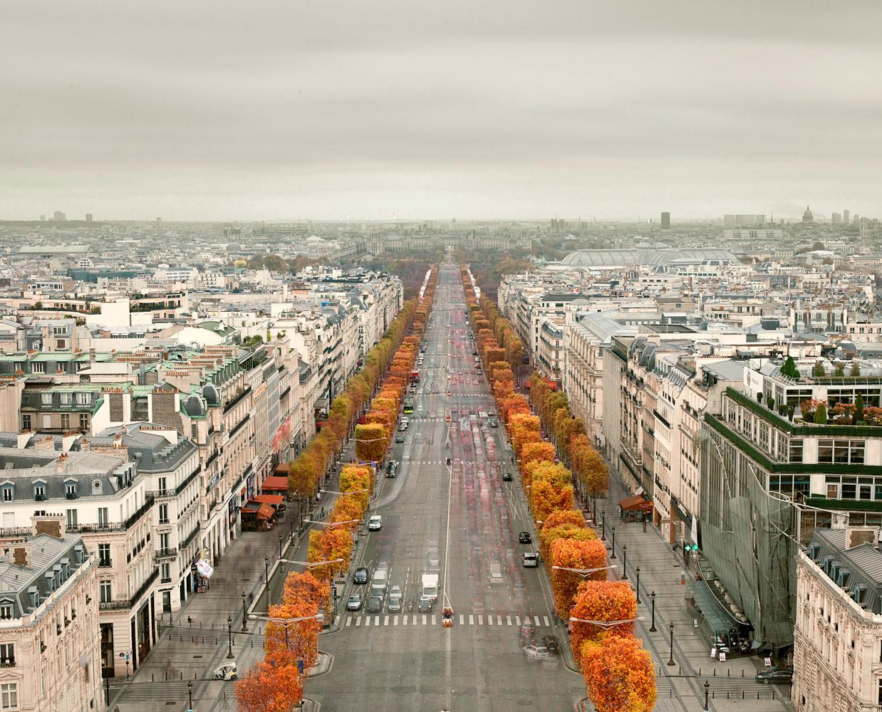 Avenue des Champs-Élysées, Paris France, 2012