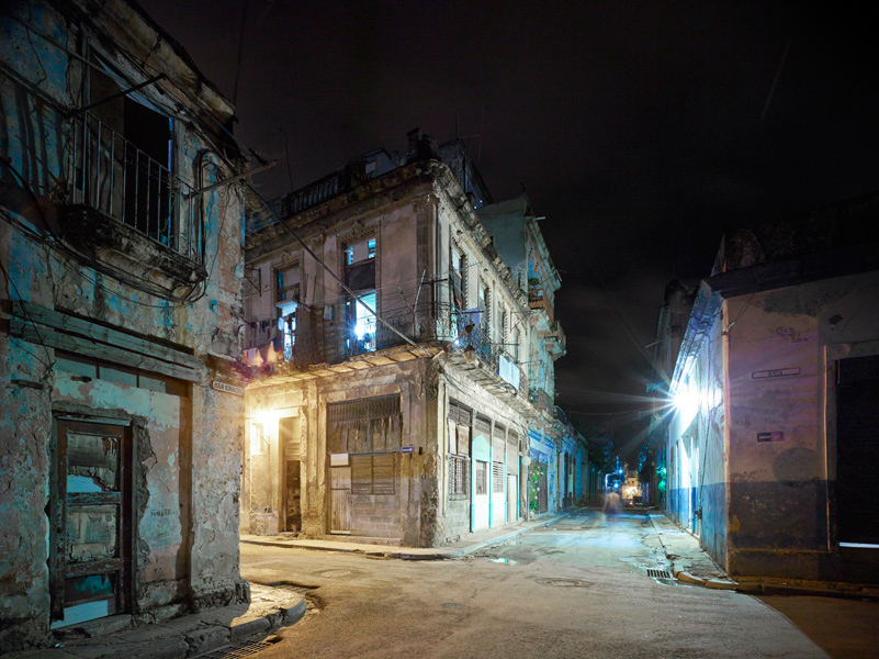 Old hava corner (night), Havanna, Cuba, 2014