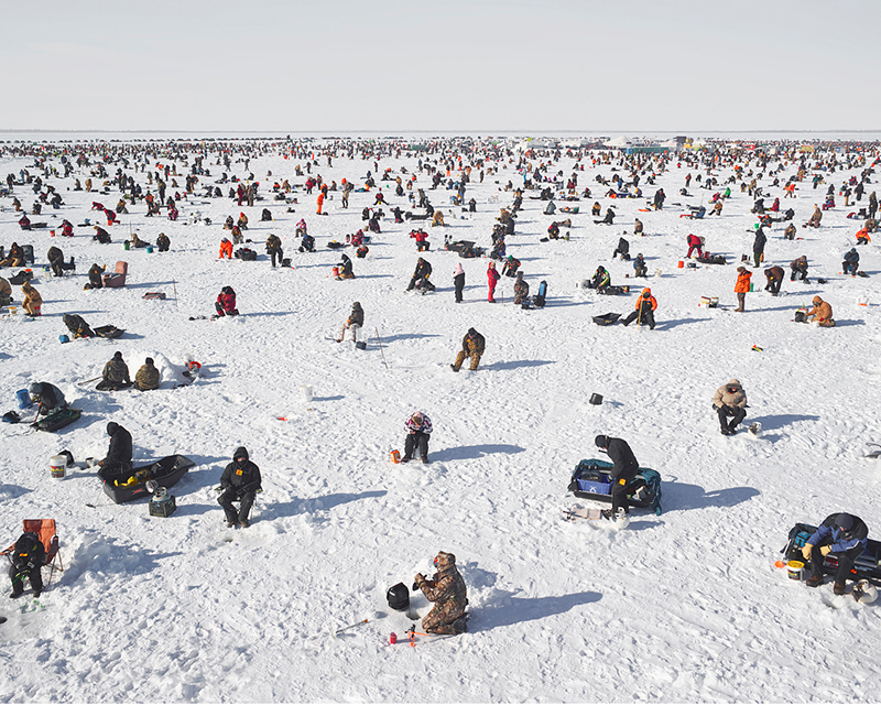 Ice Fishing, Brainerd, Minnesota, 2014,