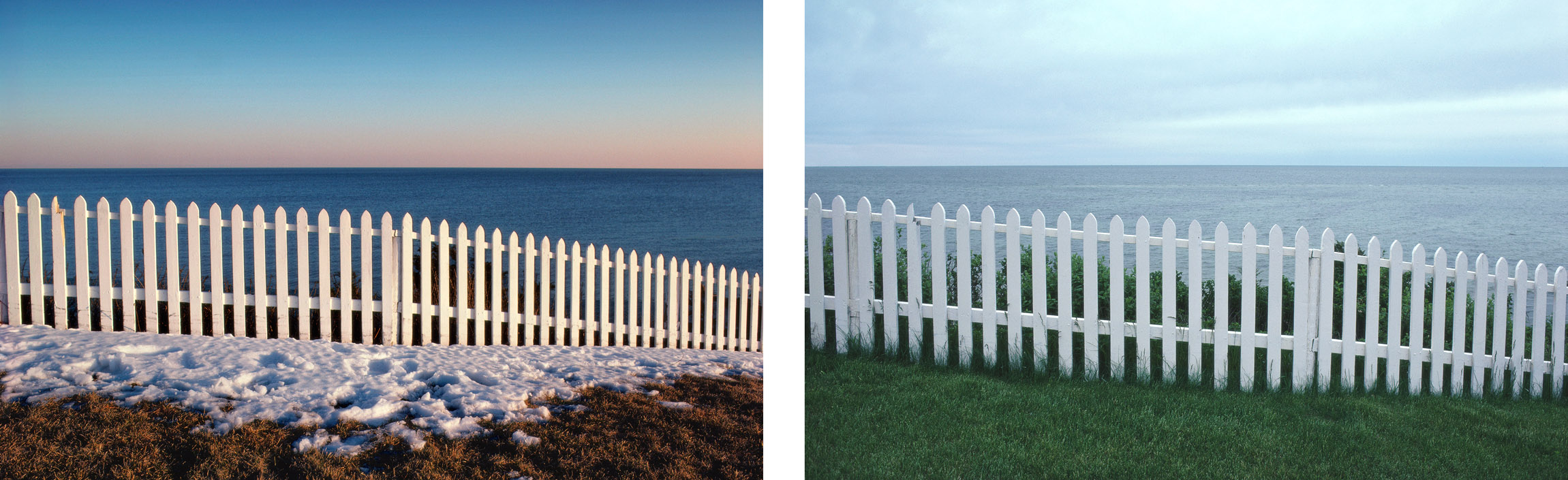 Winter and Summer   Cape Cod Fence