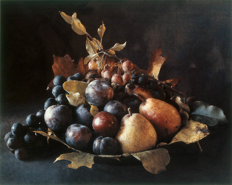 Tuscan Centerpiece with Plums
