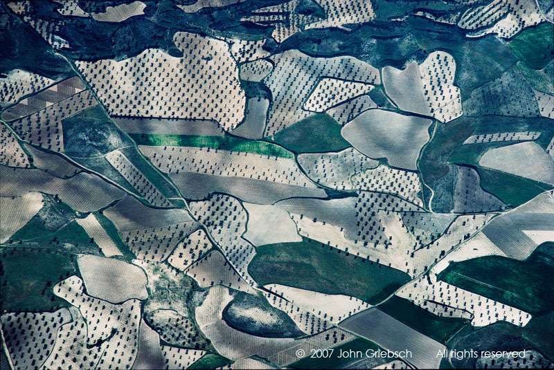Gray and Green Patchwork, La Mancha, Spain