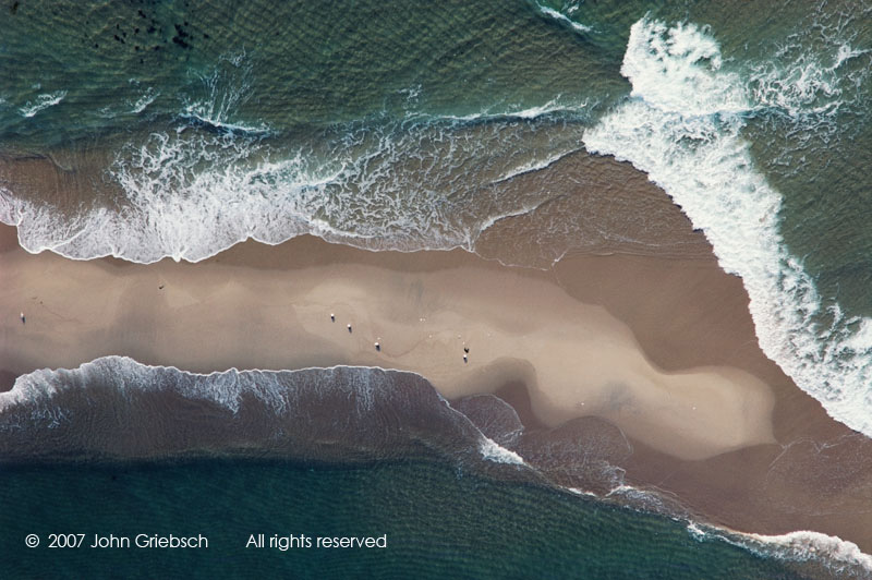 Sandbar, Waves and Seagulls, Martha's Vineyard, MA