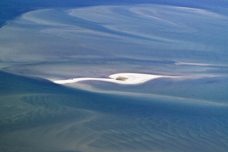 Sandbar and Underwater Patterns, Shinnecock Bay, NY