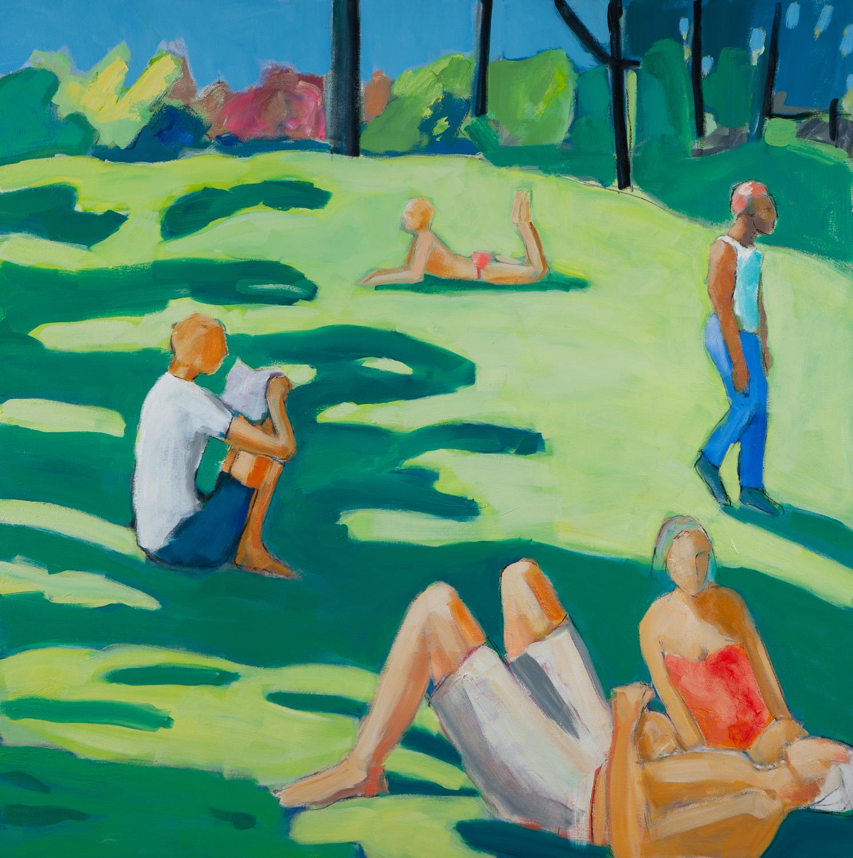 The Park , 48 x 48, oil on canvas