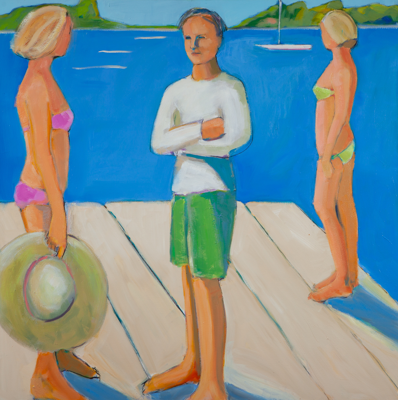 The Boyfriend,  48 x 48, oil on canvas