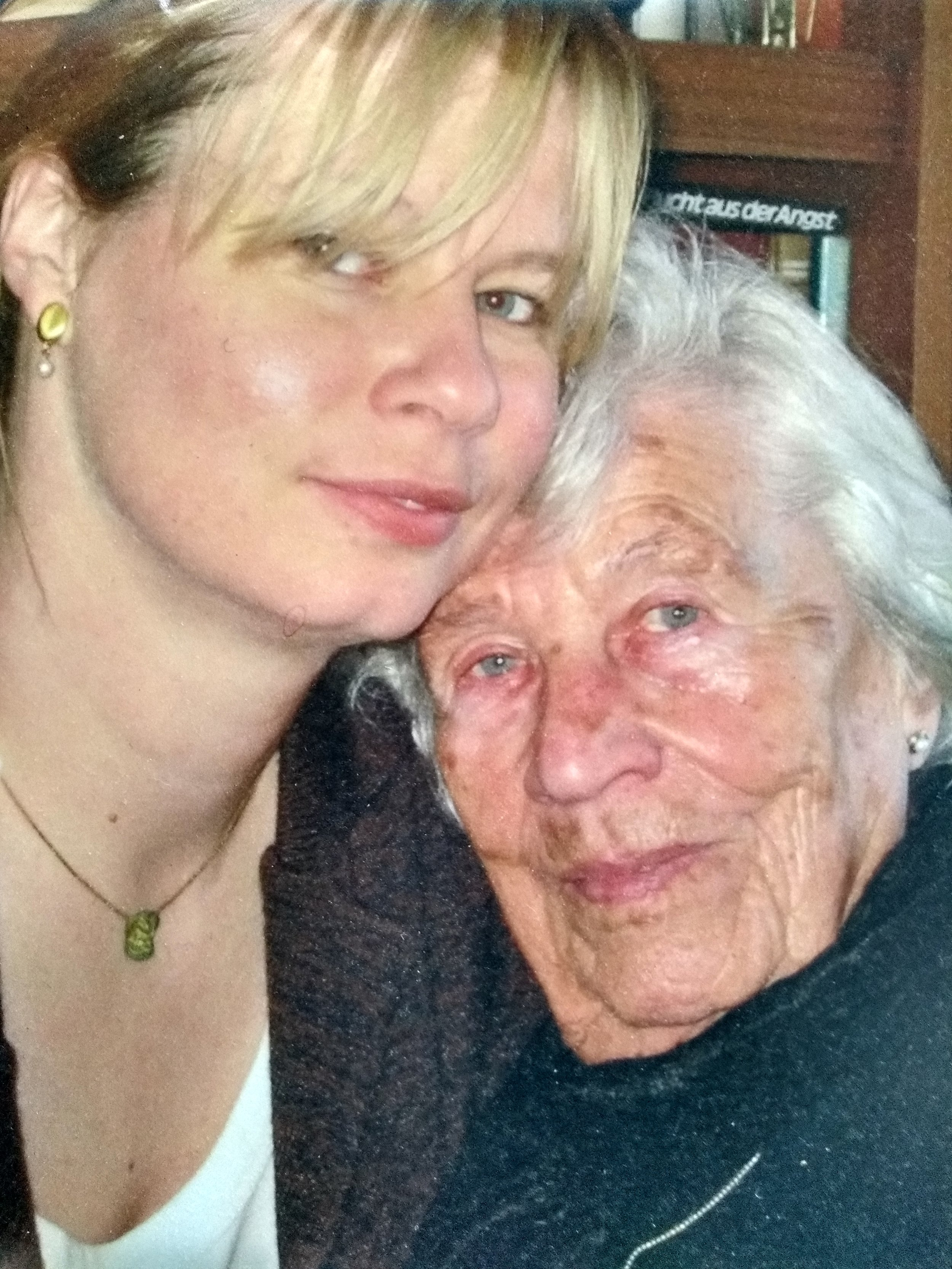 With my grandmother the day after my grandfather passed away.