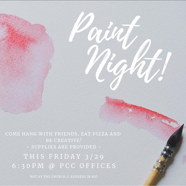 It's time to let that creative side of you thrive! We are hanging out this Friday to create masterpieces and most importantly meet new friends and maybe catch up with some old friends. Invite your friends and let's get our Bob Ross on!