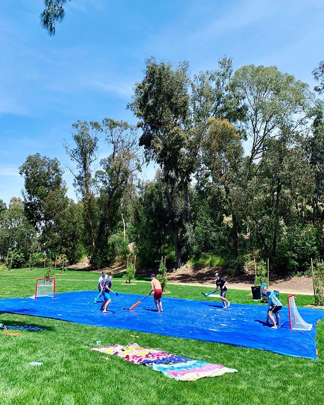 Playin tarp hockey today, here till the sun goes down. Join us if you want to meet more young adults in San Clemente! #sanclementeevents