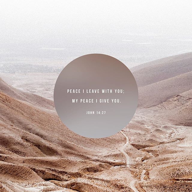 Praying that as you walk into whatever comes your way this week that you would be filled with God's peace.