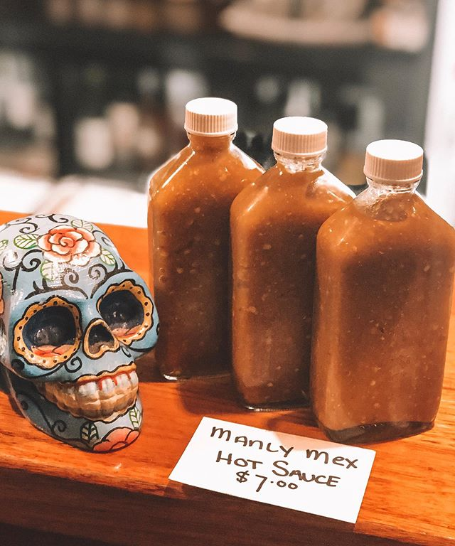 We have bottled up our 'manly mex' hot sauce! You can now take your favorite hot sauce home 🔥🔥🔥